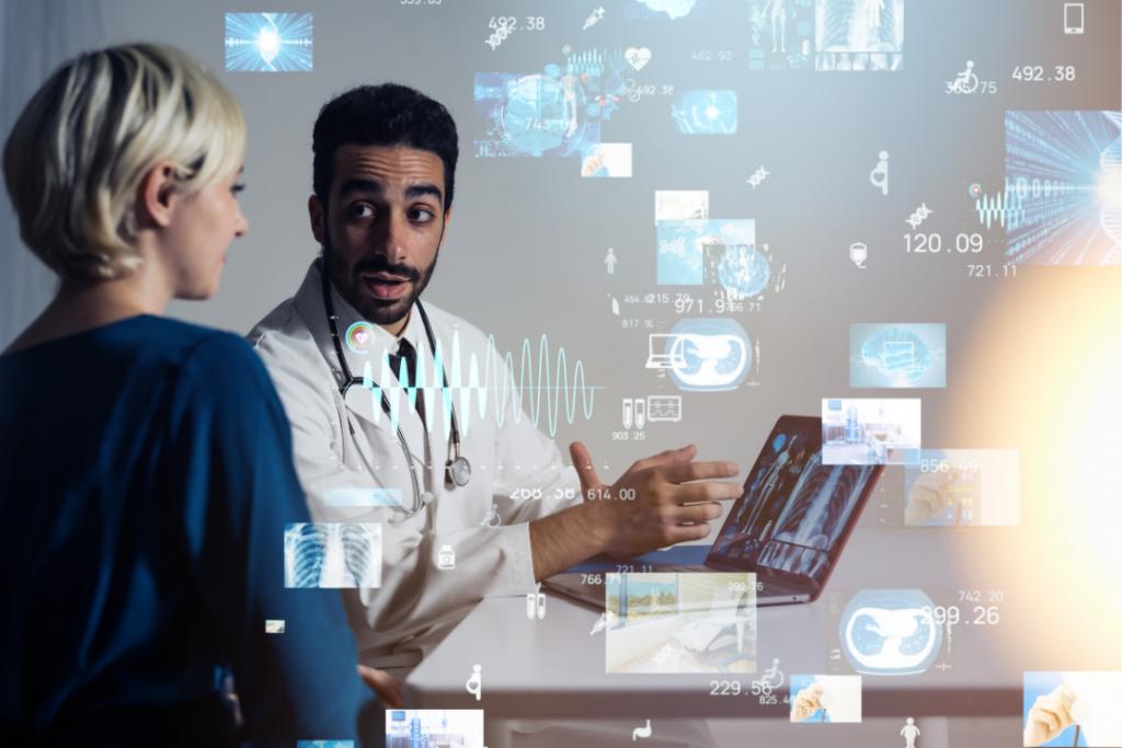 medtech medecine et technologie digitale logo et humains